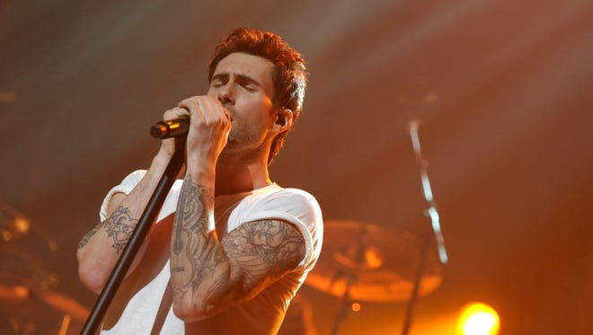 Adam Levine of Maroon 5 steams up The Orpheum Theatre on Oct. 19 in Los Angeles.