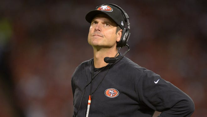 Jim Harbaugh's hospitalization is expected to only cost him one day of practice.