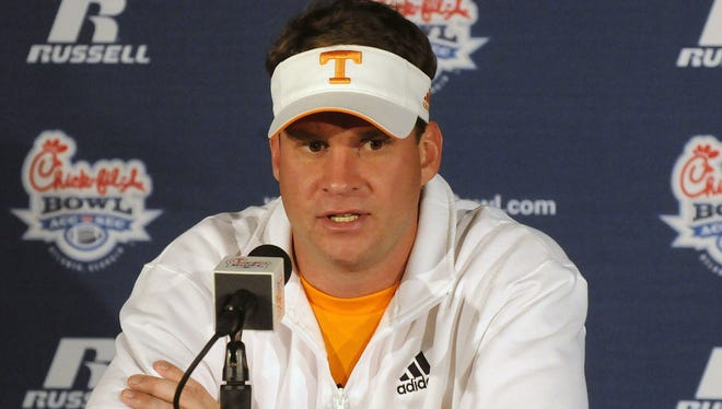 Lane Kiffin took Tennessee to the Chick-fil-A Bowl in his one season with the school.