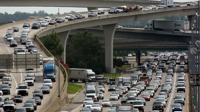 The nation's highways, including the interchange of  I-85 and I-285 in Doraville, Ga., will be busy in the days leading up to Thanksgiving.