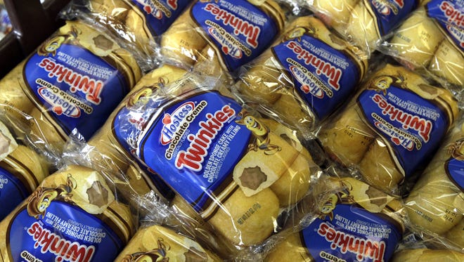 Twinkies baked goods displayed for sale at  Hostess Brands' bakery in Denver, Colo. Nov. 16, 2012.