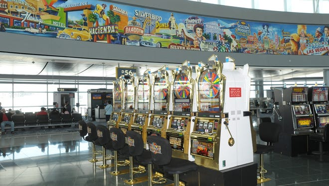 There are more than 1,000 slot machines at McCarran Airport in Las Vegas.
