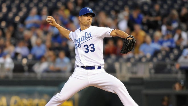 Jeremy Guthrie went 5-3 with a 3.16 ERA in 14 starts in Kansas City.