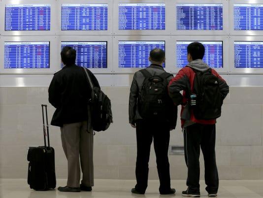 Flight cancellations Detroit airport