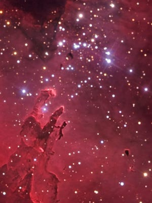 The Pillars of Creation, within the Eagle Nebula, June 2005.