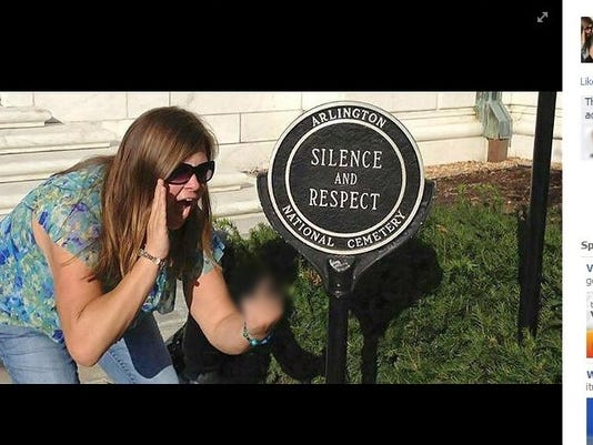 Obscene gesture photo at Arlington Cemetery stirs anger