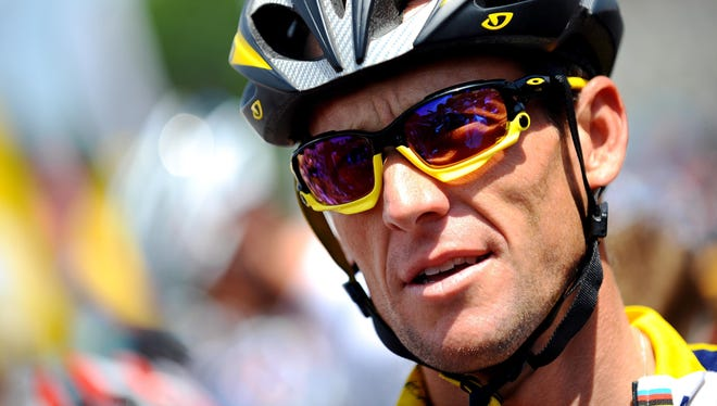 """(10) Lance Armstrong: Disgraced yet unbowed, and """"Live Strong"""" legacy carries on."""