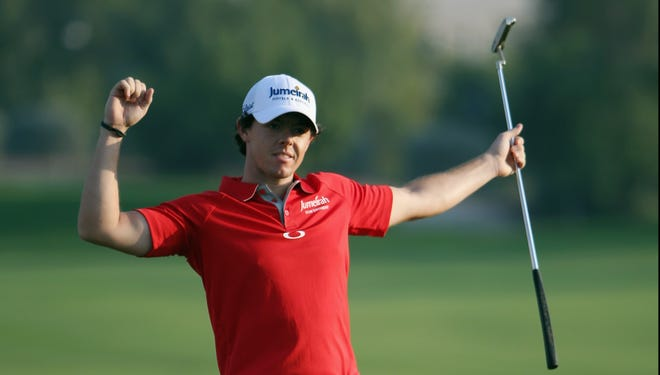 Rory McIlroy of Northern Ireland wins the DP World Tour Championship on Sunday in Dubai.