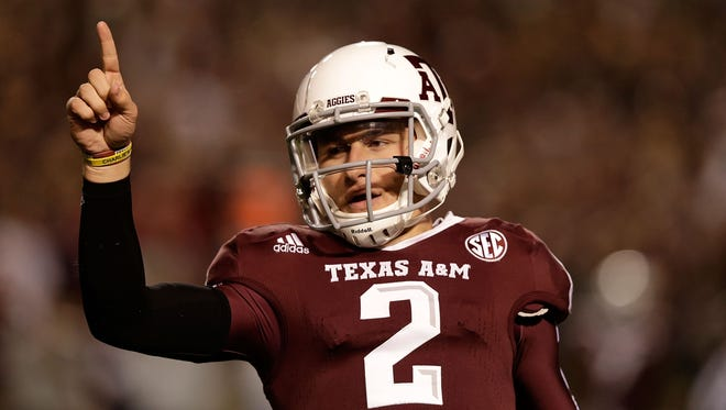 """(20) Johnny Manziel: """"Johnny Football"""" captured the imaginations of college football fans."""