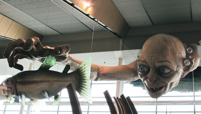 """The sculpture of Gollum, a character from """"The Hobbit,"""" was created at Weta Workshop, part of Peter Jackson's movie empire in the Wellington suburb of Miramar."""
