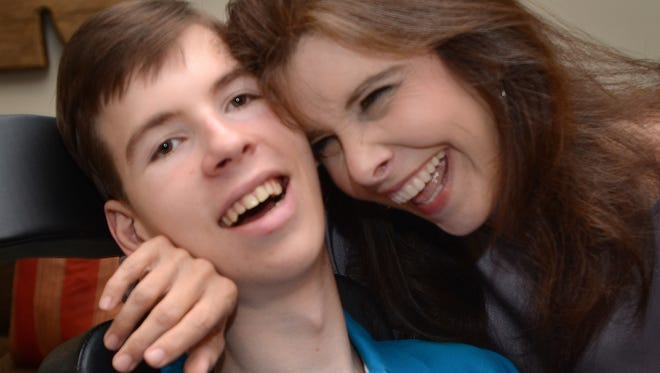 When Colton Rosamond became ill at 22-months-old, his mother Sharon Rosamond of Clinton, Miss., thought there would be some pill that would cure him of his genetic brain disease. Now 18, Colton may not be able to walk or talk, but he's filled with personality.