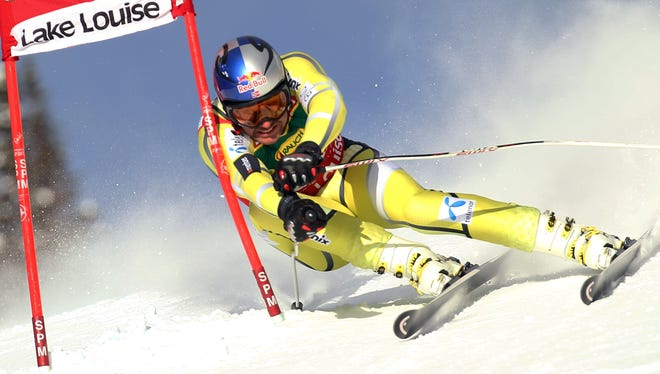Aksel Lund Svindal of Norway took first place at the Audi FIS Alpine Ski World Cup Men's Super-G on Sunday.