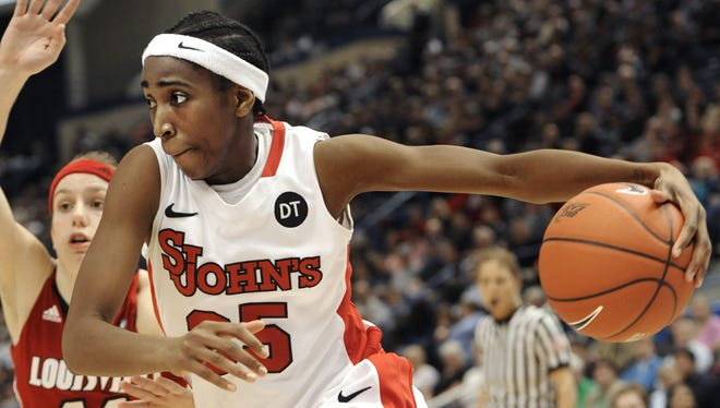 St. John's Shenneika Smith had a double-double to lead the Red Storm.