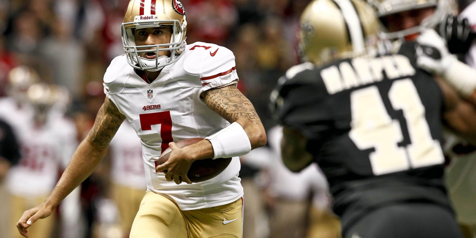 Kaepernick doesn t disappoint as 49ers defeat Saints e89293bc3