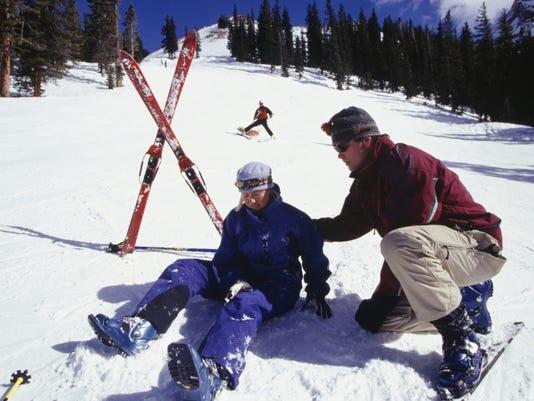 Ski accident travel medical emergency