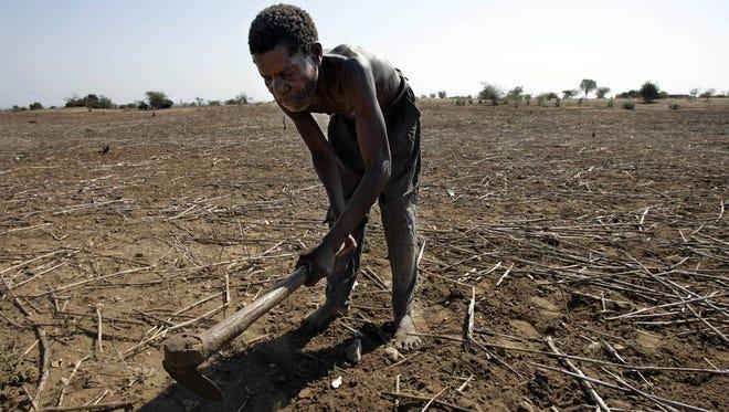 A farmer in southern Malawi.