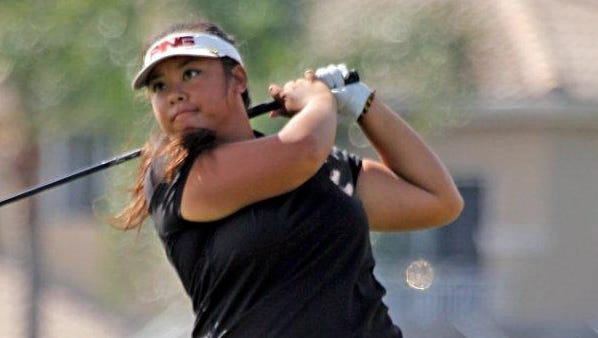 Elizabeth Bernabe, a senior at Canyon High in Anaheim Hills, Calif., is one of the top juniors in the country. She uses a belly putter.