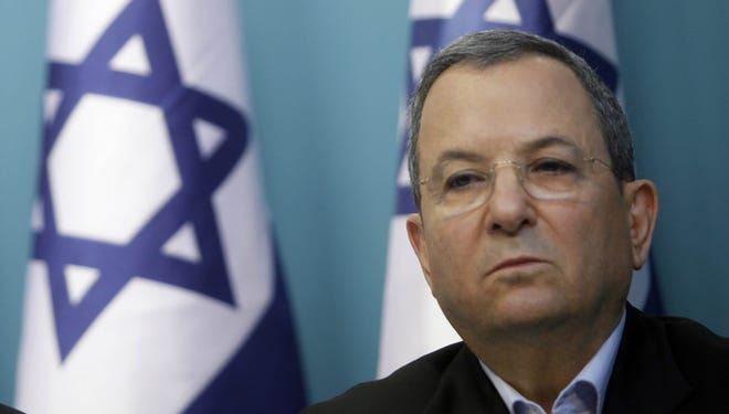 Defense Minister Ehud Barak at a press conference in Jerusalem on Nov. 21.