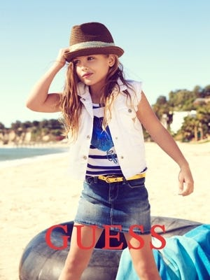 The Guess kids Spring 2013 campaign features Dannielynn Birkhead, daughter of late Guess model Anna Nicole Smith.