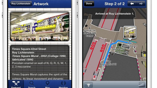 Meridian, a mobile mapping software maker, has an app that helps you navigate subway systems, like the one in New York City.