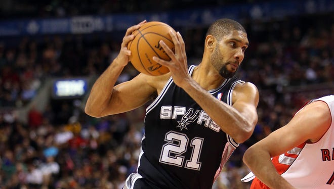 San Antonio's Tim Duncan was named Western Conference player of the week.