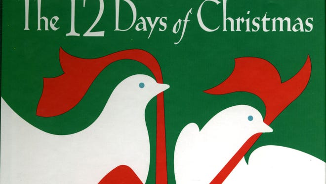 """""""The 12 Days of  Chirstmas"""" carol in illustrated book form."""