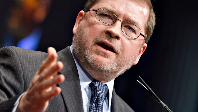 Grover Norquist, president of Americans for Tax Reform, addresses conservatives in February.