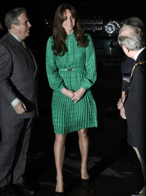 Catherine Duchess of Cambridge arrives to open new gallery at Natural History Museum in London.