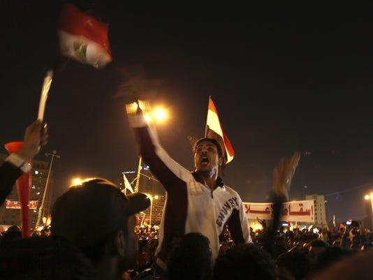 tahrir square egypt morsi protest