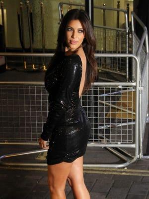 Kim Kardashian arrives for their Kardashian Kollection UK Launch at Acqua Club in central London on Nov. 8.
