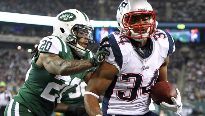 Patriots running back Shane Vereen has scored three touchdowns in his last four games, including an 83-yard catch-and-run last week against the New York Jets.