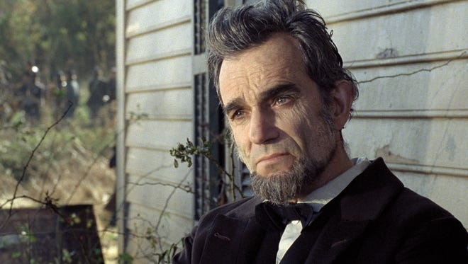 Daniel Day-Lewis portrays President Abraham Lincoln in a scene from the motion picture 'Lincoln.'