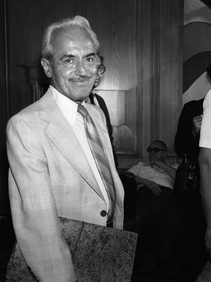 Marvin Miller, chief counsel for the Major League Baseball Players Association, arrives at New York's Doral Hotel in 1981.