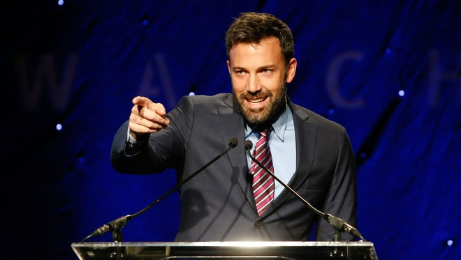 Ben Affleck speaks onstage at the Human Rights Watch Annual 'Voices Of Justice' Dinner at The Beverly Hilton Hotel on Nov. 12 in Beverly Hills.