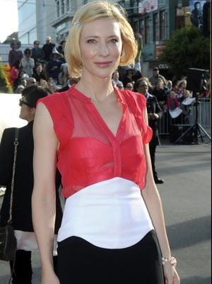 Cate Blanchett poses on the red carpet at the premiere of 'The Hobbit: An Unexpected Journey' at the Embassy Theatre, in Wellington, New Zealand on Nov. 28.