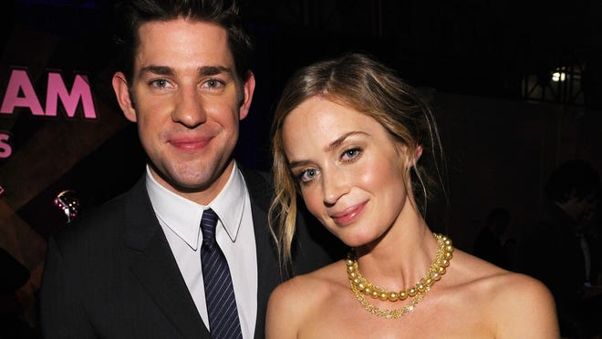 Emily Blunt and John Krasinski attend the 22nd Annual Gotham Independent Film Awards at Cipriani Wall Street on November 26, 2012 in New York City.  (Photo by Bryan Bedder/Getty Images for FIJI Water)
