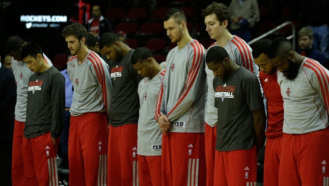 The Houston Rockets attended the funeral of coach Kevin McHale's daughter, Sasha, today in Minnesota before traveling to Oklahoma City for tonight's game against the Thunder.