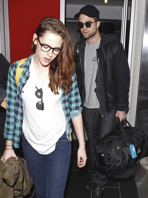 Robert Pattinson and Kristen Stewart were together at LAX Airport on Monday in L.A.