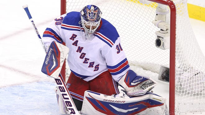 New York Rangers goalie Henrik Lundqvist put his mask up for auction.