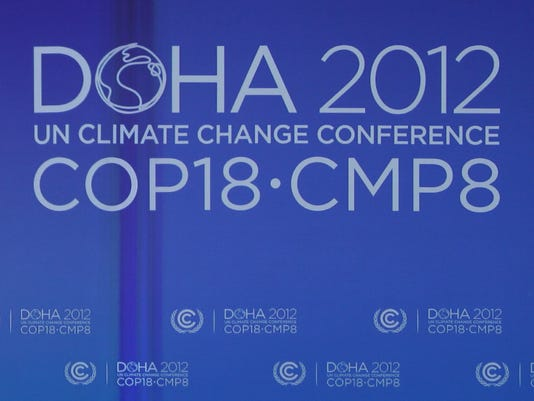 Attendees of the 2012 UN Climate Change Conference in Doha, Qatar