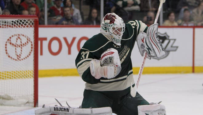 Minnesota Wild goalie Josh Harding was diagnosed with multiple sclerosis two months ago.