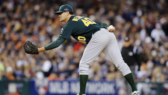 Pat Neshek was 2-1 with a 1.37 ERA in 24 appearances with the A's in 2012.