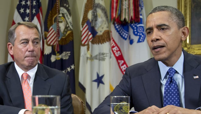 President Obama and House Speaker John Boehner.