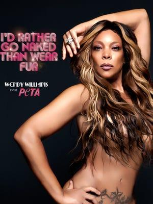 Wendy Williams poses for PETA.