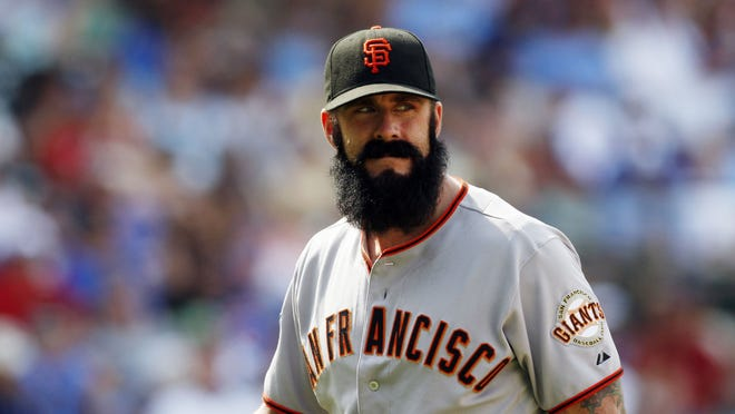 Brian Wilson pitched two innings for the Giants last season.