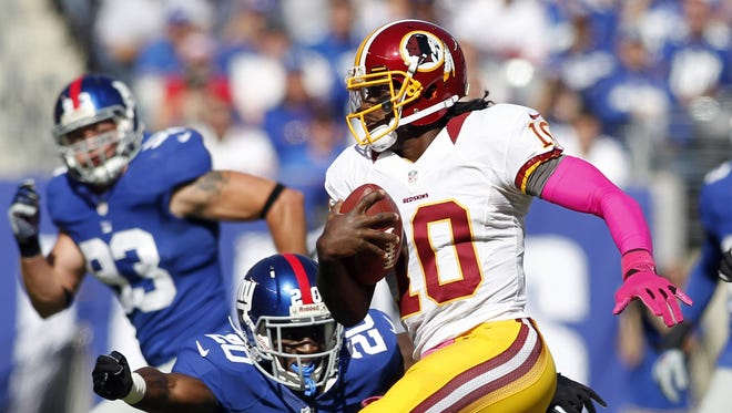 Redskins QB Robert Griffin III nearly triggered an upset of the Giants in Week 7.
