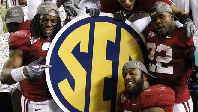 Alabama won the SEC championship game in 2009 and went on to defeat Texas for the national championship.