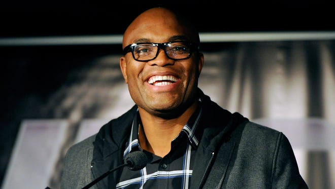 Anderson Silva gives a press conference prior to UFC 154 in Montreal earlier this month.