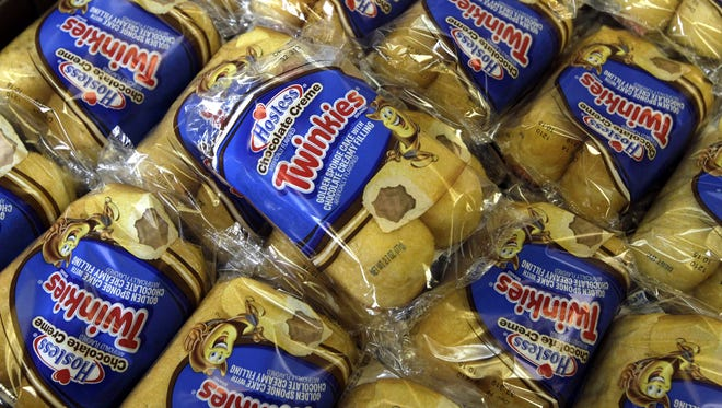 Twinkies baked goods for sale at the Hostess Brands' bakery in Denver, Colo.