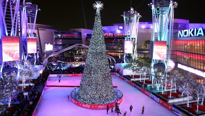 The Holiday Tree at the 5th annual Holiday Tree Lighting at L.A. Live on Nov. 28.